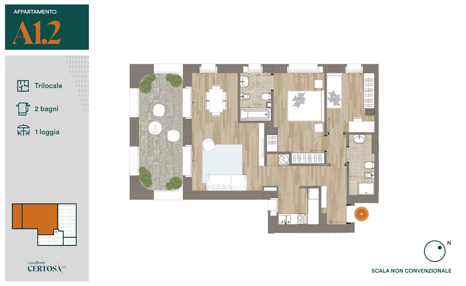 Appartamento A1.2 - Trilocale