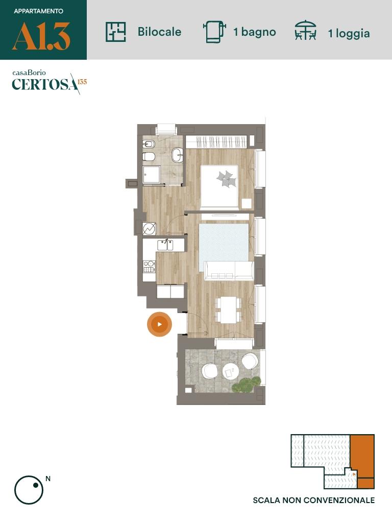 Appartamento A1.3 - Bilocale