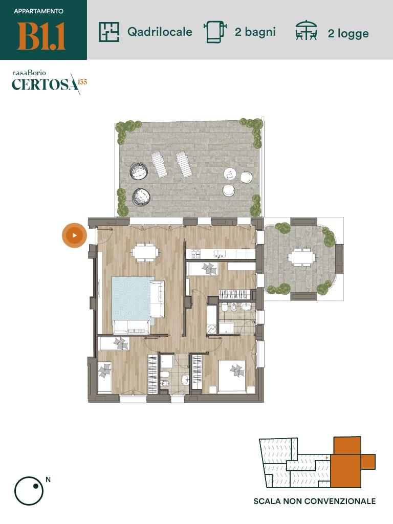 Appartamento B1.1 - Quadrilocale